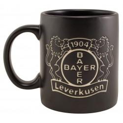 Bayer 04 Leverkusen Tasse Logo Prägung, Kaffeetasse, Kaffeepot, Mug plus Lesezeichen Wir lieben Fußball