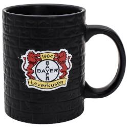 Bayer 04 Leverkusen Tasse Mauer, Kaffeetasse, Kaffeepot, Mug plus Lesezeichen Wir lieben Fußball