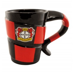 Bayer 04 Leverkusen Tasse Schal, Kaffeetasse, Kaffeepott, Mug  plus Lesezeichen Wir lieben Fußball