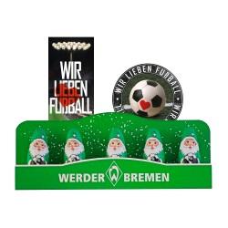 SV Werder Bremen Schoko Mini Weihnachtsmann (5 Stk.) Plus gratis Fussball-Scholadenmischung (150g)