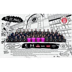 FC St.Pauli Poster, Team Plakat, Mannschaftsposter 2019209 - Plus Aufkleber Fans gegen Rechts