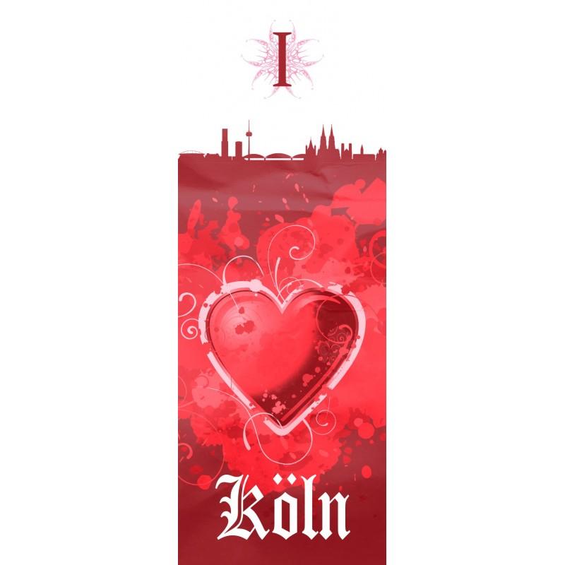 Kissen Dekokissen Plus Lesezeichen I Love K/öln 1 Zierkissen FC K/öln Pailletten Wendekissen