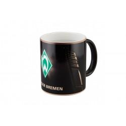 SV Werder Bremen Tasse Magic Flutlichtmast, Kaffeetasse, Becher, coffee pot - plus Lesezeichen I love Bremen