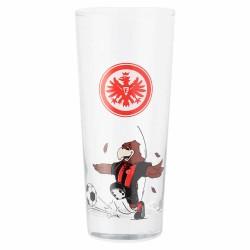 Eintracht Frankfurt Kinderglas Attila, Trinkglas, Glas 2er Set SGE - plus Lesezeichen I love Frankfurt