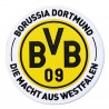 Borussia Dortmund Aufnäher XXL, Stick-Logo, Stickabzeichen BVB plus Lesezeichen I love Dortmund