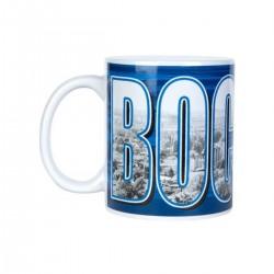 VfL Bochum 1848 Tasse Stadtbuchstaben, Kaffeetasse, Kaffeebecher, Becher, coffee mug plus Lesezeichen Wir lieben Fußball
