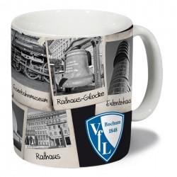 VfL Bochum 1848 Tasse Sightseeing, Kaffeetasse, Kaffeebecher, Becher, coffee mug plus Lesezeichen Wir lieben Fußball