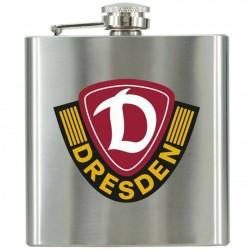 SG Dynamo Dresden Flachmann Logo, Taschenflasche, Edelstahl Flasche SGD - plus Lesezeichen Wir lieben Fußball