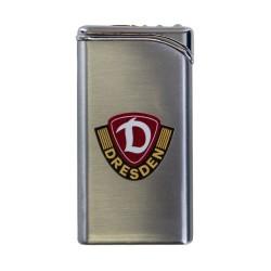 SG Dynamo Dresden Metall Feuerzeug Tempo Piezo LOGO silberfarben SGD plus Lesezeichen Wir lieben Fußball