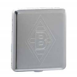 Borussia Mönchengladbach Etui Big Logo Metall flach, Zigarettenetui, Zigarettenbox BMG plus Lesezeichen I love Mönchengladbach