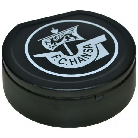 F.C. Hansa Rostock Aschenbecher Logo mit Deckel, Klappaschenbecher, Ascher - plus Lesezeichen Wir lieben Fußball
