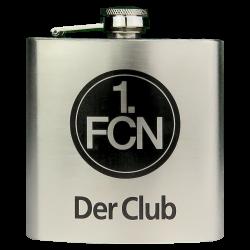 1.FC Nürnberg Taschenflasche, Flachmann, Flasche FCN  - plus Lesezeichen Wir lieben Fußball