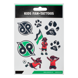 Hannover 96 Kids Fan-Tattoos, Aufkleber, Tattoo, temporäre Tattoos H96- plus Lesezeichen I love Hannover
