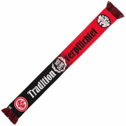 Eintracht Frankfurt Schal Tradition seit 1899, Fanschal Tradition verpflichtet, scarf SGE - plus Lesezeichen I love Frankfurt